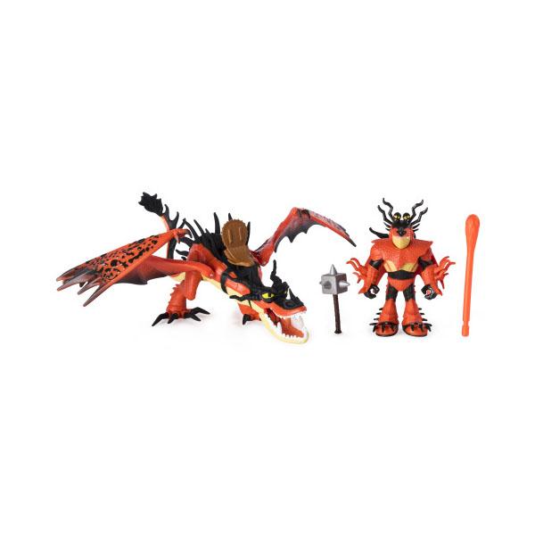 dragons 66621dg дрэгонс игровой набор дракон и фигурка смертолап и гриммель Dragons 66621HF Дрэгонс Игровой набор дракон и фигурка, (Сморкала и Кривоклык)