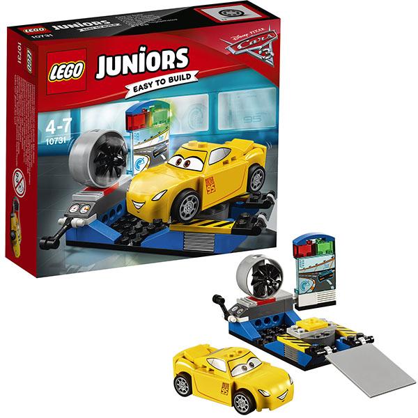 Lego Juniors 10731 Лего Джуниорс Тачки Гоночный тренажёр Крус Рамирес lego juniors 10739 лего джуниорс ниндзяго нападение акулы