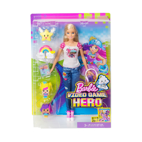 """Mattel Barbie DTV96 Барби Кукла-геймер из серии """"Barbie и виртуальный мир"""""""