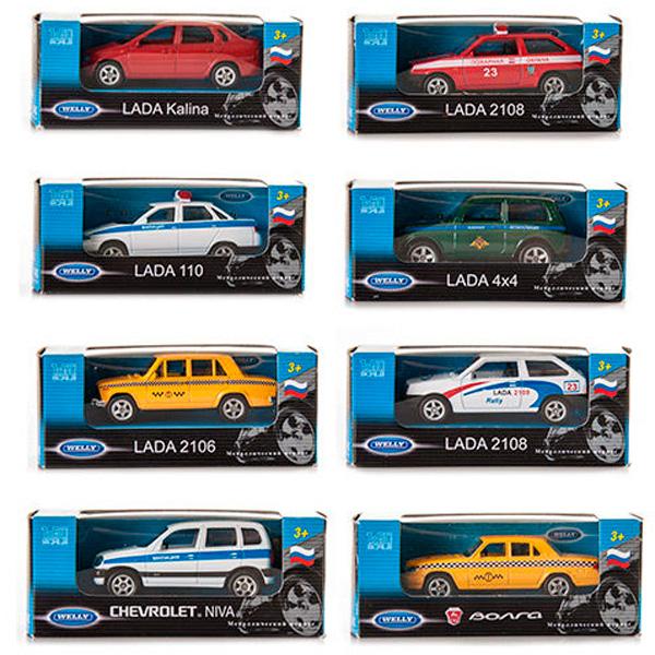 Welly 52020R Велли Модель машины 1:60, отечественные модели 20 видов (в ассортименте) welly 52020d велли модель машины 1 60 в ассортименте