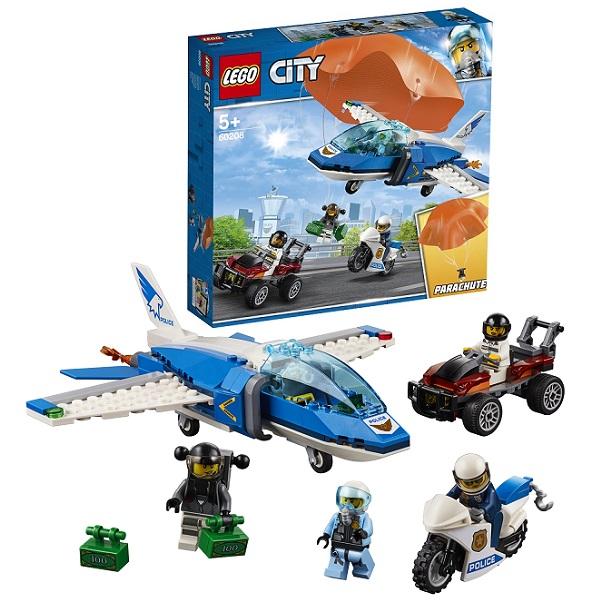 LEGO City 60208 Конструктор ЛЕГО Город Воздушная полиция: Арест парашютиста