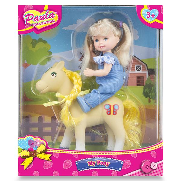 Paula MC23034b Игровой набор Прогулка с пони блондинка набор с двумя пони с аксесс g868833 kari