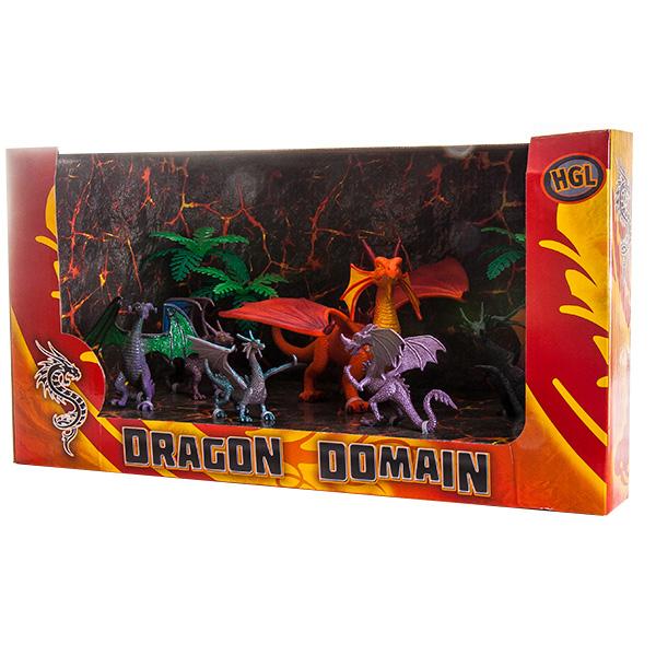 Megasaurs SV11711 Мегазавры Игровой набор Драконы 6 шт + 2 дерева (в ассортименте)