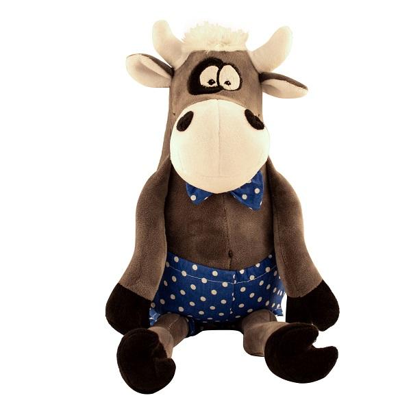 SOFTOY UT-50006 Игрушка мягкая Бык, 50 см., серый softoy ut 1301 игрушка мягкая бык 45 см