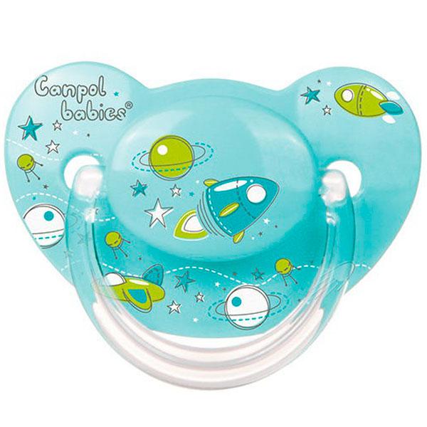 Canpol babies 250930262 Пустышка анатомическая силиконовая, Machines, бирюзовая, 0-6м