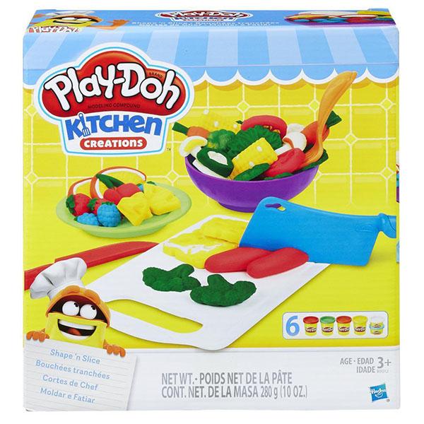 Hasbro Play-Doh B9012 Игровой набор Приготовь и нарежь на дольки наборы для лепки play doh игровой набор стильный салон рэйнбоу дэш