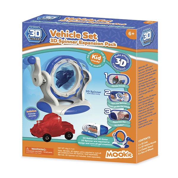 3D Magic 93001 Набор формочек 3D Maker Машинки 3d magic набор для создания объемных моделей 3d maker 81000