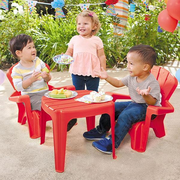 Little Tikes 643736 Литл Тайкс Набор садовый столик и стулья 2 шт., красный