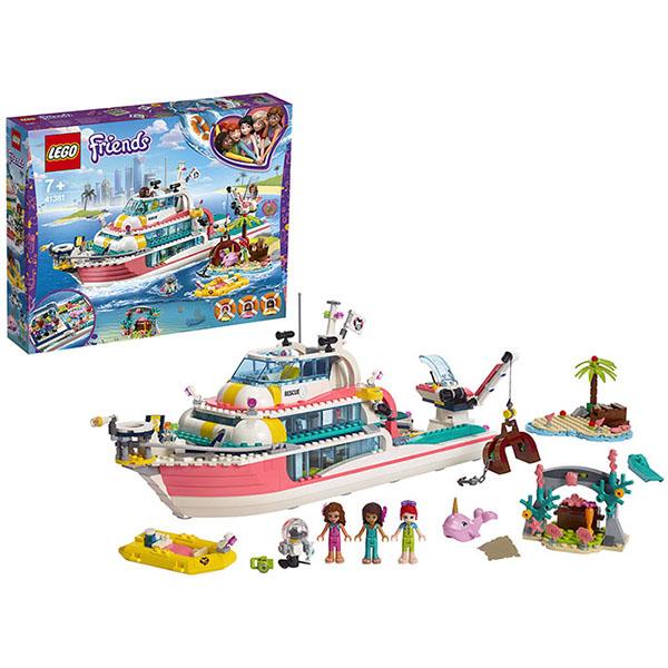 LEGO Friends 41381 Конструктор ЛЕГО Подружки Катер для спасательных операций lego friends 41316 скоростной катер андреа
