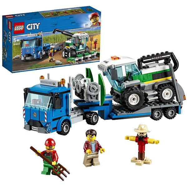 цена на LEGO City 60223 Конструктор Лего Город Транспорт: Транспортировщик для комбайнов