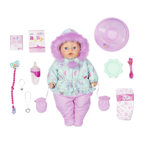 Zapf Creationi Baby born 827-529 Бэби Борн Кукла Интерактивная Зимняя, 43 см