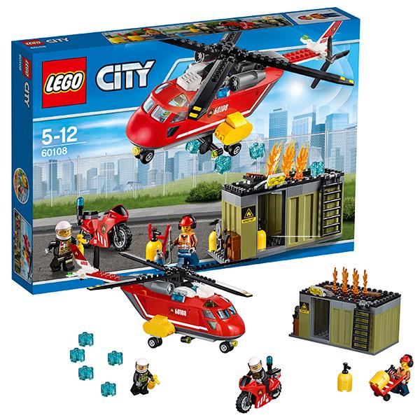 Lego City 60108 Лего Город Пожарная команда быстрого реагирования lego 60139 город мобильный командный центр