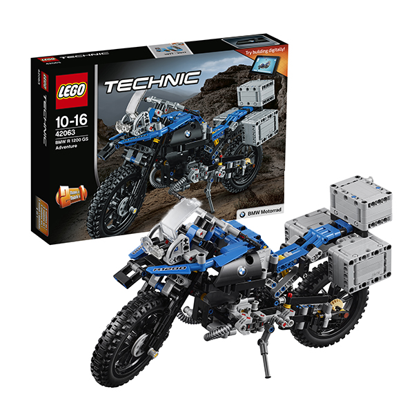 Lego Technic 42063 Лего Техник Приключения на BMW R1200 GS конструктор lego 42063 техник приключения на bmw r 1200 gs