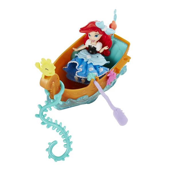 Hasbro Disney Princess B5338 Набор для игры в воде: маленькая Принцесса и лодка (в ассортименте) hasbro модная кукла принцесса в юбке с проявляющимся принтом принцессы дисней b5295 b5299