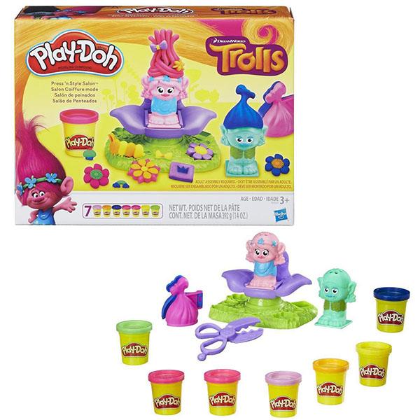 Hasbro Play-Doh B9027 Игровой набор Тролли hasbro play doh игровой набор из 8 баночек с 2 лет