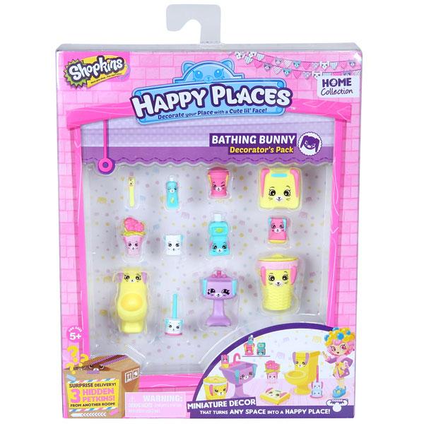 """Happy Places 56380 Игровой набор для декора """"Кролики для ванной"""""""