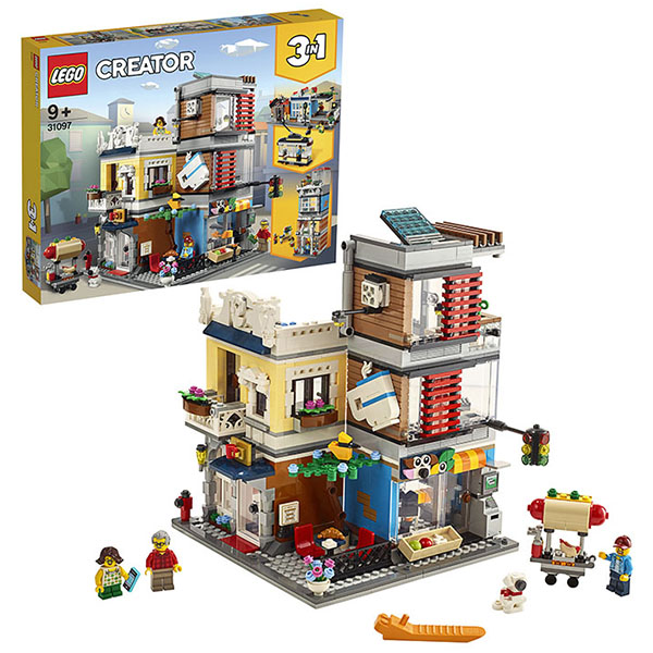 LEGO Creator 31097 Конструктор ЛЕГО Криэйтор Зоомагазин и кафе в центре города стоимость
