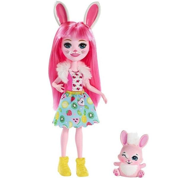 Mattel Enchantimals FXM73 Кукла с питомцем Кролик Бри mattel набор с куклой enchantimals сюжетные наборы бри банни и твист
