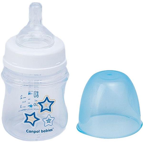 Canpol babies 250930095 Бутылочка PP EasyStart с широким горлышком антиколиковая,голубая, 120 мл,0+