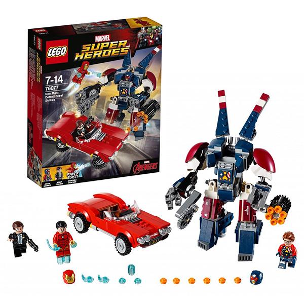 Lego Super Heroes 76077 Конструктор Лего Супер Герои Железный человек: Стальной Детройт наносит удар конструктор lego super heroes железный человек стальной детройт наносит удар 76077