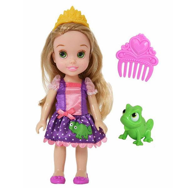 Disney Princess 754930 Принцессы Дисней Малышка с питомцем 15 см, Рапунцель