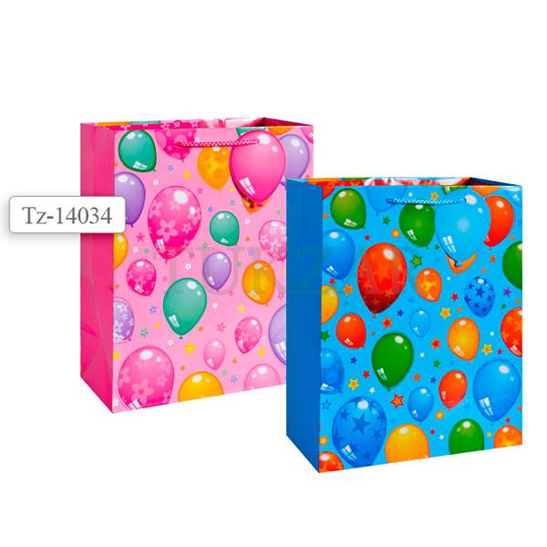 Пакет подарочный бумажный, 2 вида TZ14034 (32*26*12 см) (в ассортименте) пакет подарочный бумажный голография 11 1 13 7 6 2 см в ассортименте