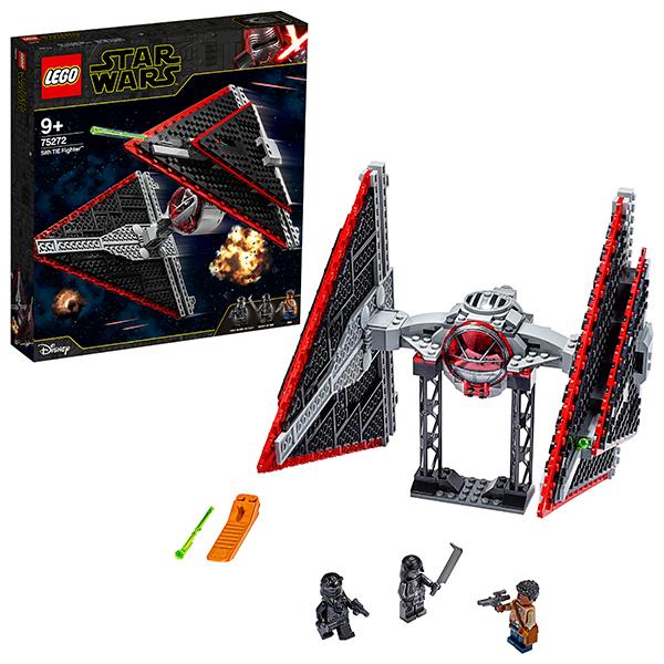 LEGO Star Wars 75272 Конструктор ЛЕГО Звездные войны Истребитель СИД ситхов детское лего sluban airbus lego b0366