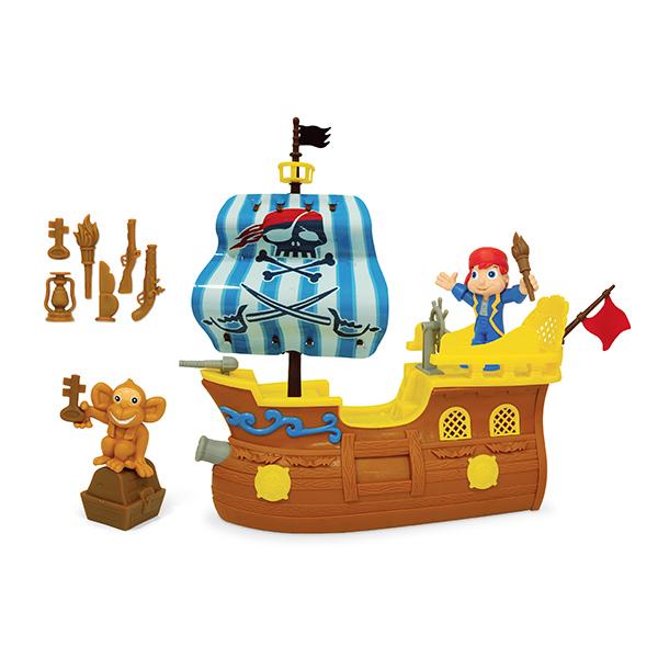 Boley 31627 Игровой набор Пиратский корабль маленький новый формат игровой набор сундук пирата