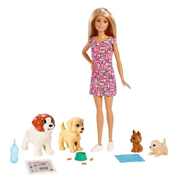 купить Mattel Barbie FXH08 Барби и щенки онлайн