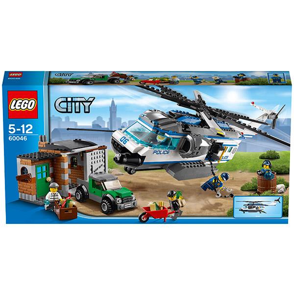 LEGO City 60046 Конструктор ЛЕГО Город Вертолетный патруль