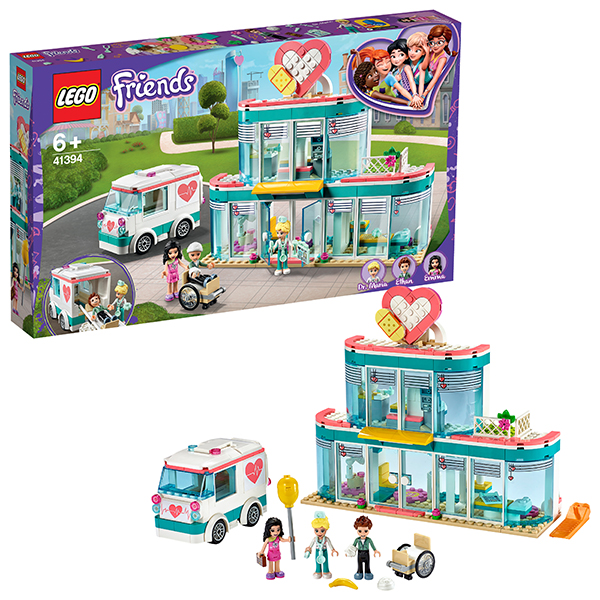 LEGO Friends 41394 Конструктор ЛЕГО Подружки Городская больница Хартлейк lego city городская больница 60204