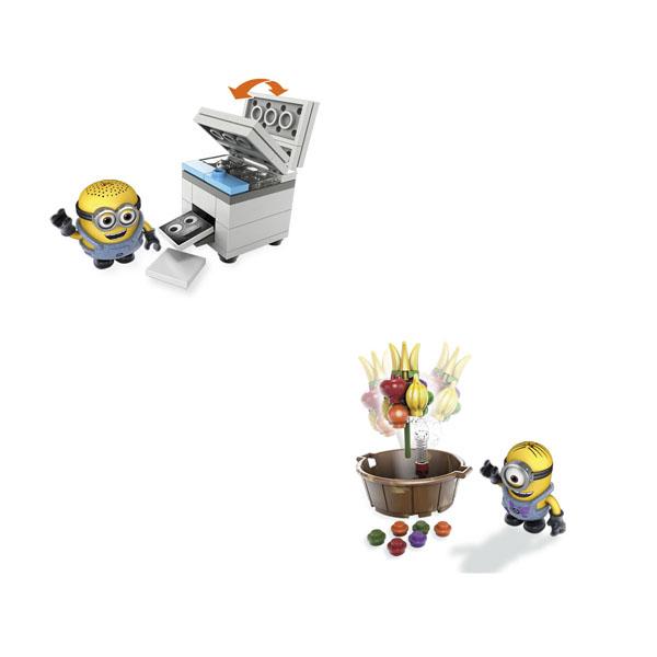 Mattel Mega Bloks DMV20 Мега Блокс Миньоны: весёлые мини-игровые наборы mymei 1 комплект 12шт набор гадкий я 2 миньоны рисунок игрушки в розницу 96408