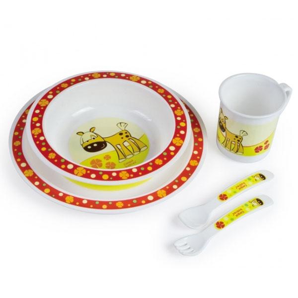 Canpol babies 210307310 Набор обеденный пластиковый, красный, 12м+