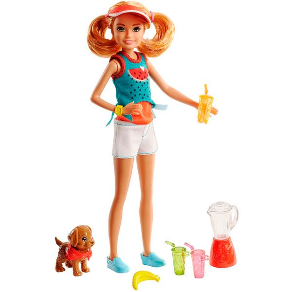 Mattel Barbie FHP63 Барби Сестры и щенки барби барби детский плащ сумки банни девушки перламутровый надувной капюшон надувной щенок щенок щенки учеников by 004 барби l