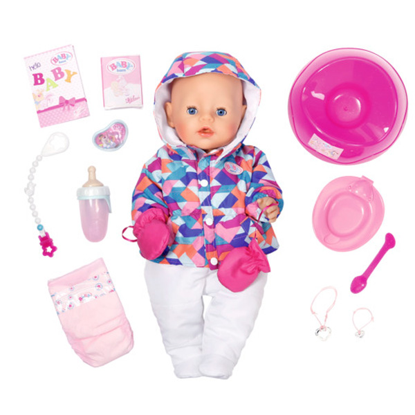 Zapf Creation Baby born 823-200 Бэби Борн Кукла Интерактивная Зимняя пора, 43 см