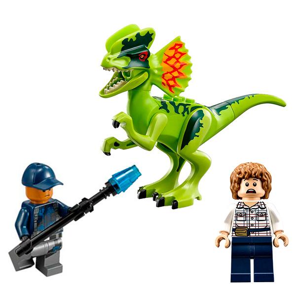 Lego Jurassic World 75916 Конструктор Лего Мир Юрского Периода Засада на дилофозавра