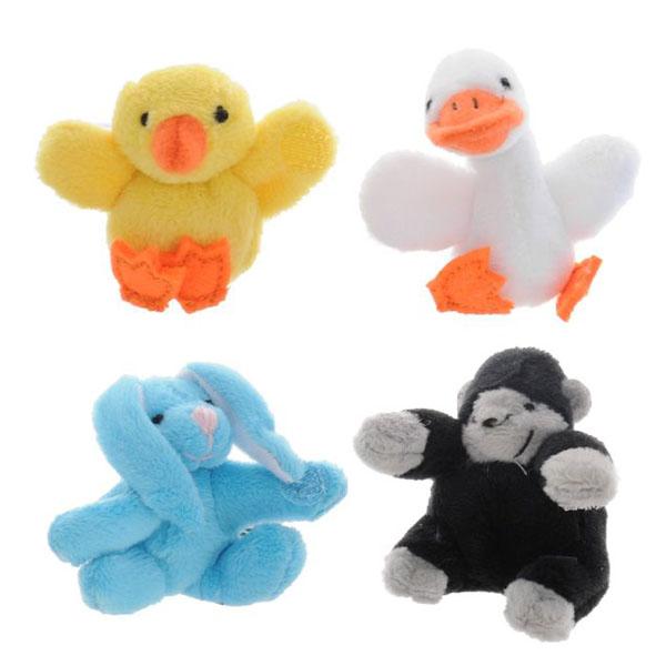 """Beanzees B34041 Бинзис Мини плюш в наборе """"Цыпленок, Утенок, Кролик, Горилла"""" игровой набор beanzeez мини плюш в наборе цыпленок утенок кролик горилла"""