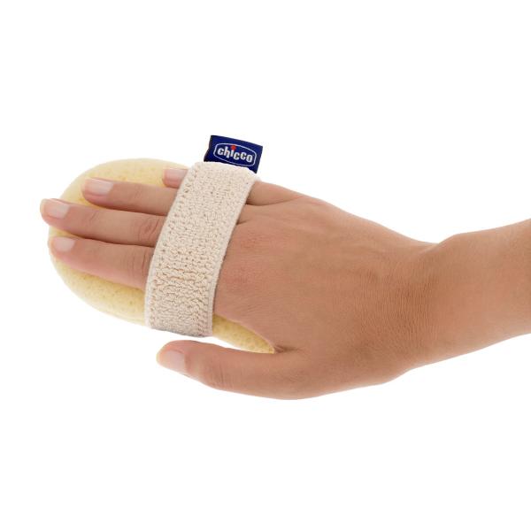 Chicco 320615058 Губка-рукавичка Baby Moments для купания ребенка с карманом для мыла, 0+
