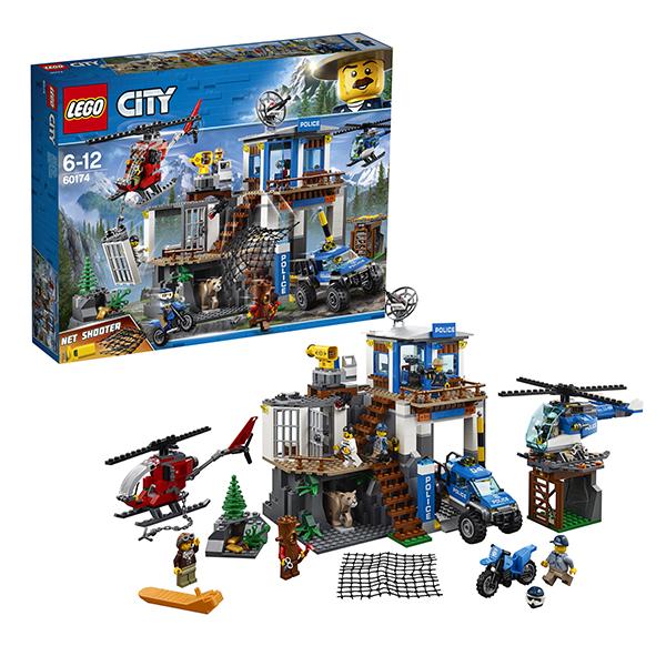 Lego City 60174 Конструктор Лего Город Полицейский участок в горах видеонаблюдение