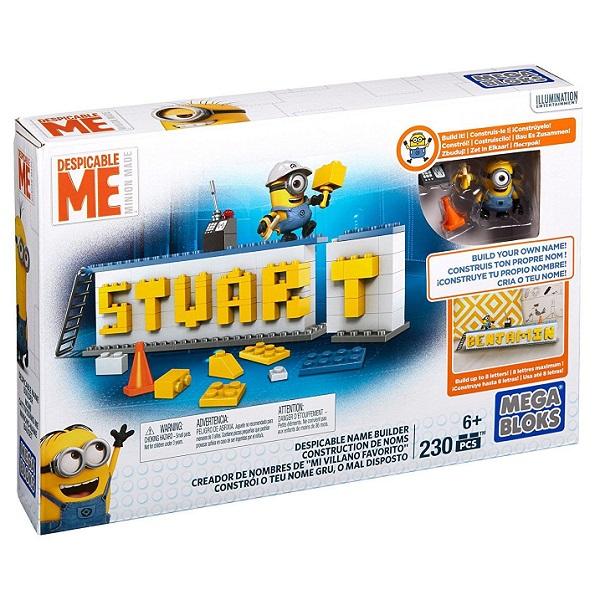 Mattel Mega Bloks DRV32 Мега Блокс Конструктор Гадкий Я Табличка для имени