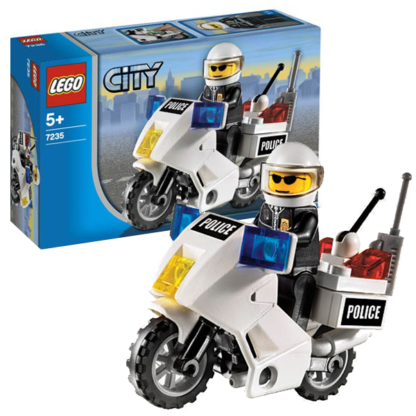 Lego City 7235 Конструктор Лего Город Полицейский мотоцикл