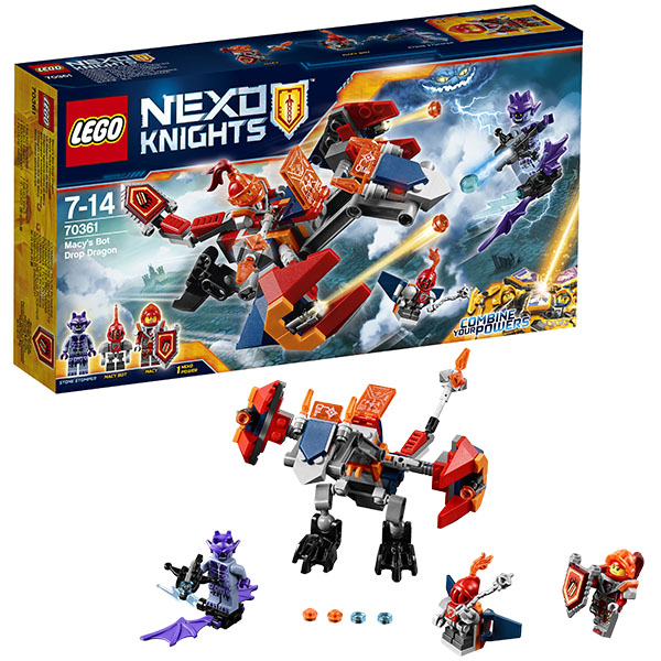 Lego Nexo Knights 70361 Лего Нексо Дракон Мэйси брелоки lego брелок фонарик для ключей lego nexo knights рыцари нексо clay