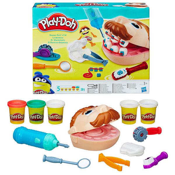 Hasbro Play-Doh B5520 Игровой набор Мистер Зубастик Новая версия hasbro play doh игровой набор из 8 баночек с 2 лет