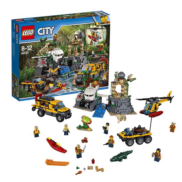 Lego City 60161 Конструктор Лего Город База исследователей джунглей конструкторы lego lego грузовой вертолёт исследователей джунглей city jungle explorer 60158