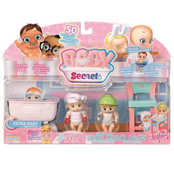 Zapf Creation Baby Secrets 930-175 Бэби Секрет Набор с детским стульчиком