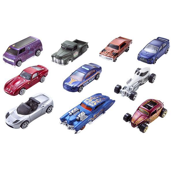 Mattel Hot Wheels 54886 Хот Вилс Подарочный набор из 10 машинок (в ассортименте) набор машинок hot wheels 54886 масштаб 1 64 10шт