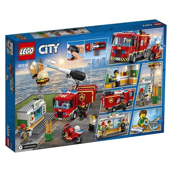 LEGO City 60214 Конструктор ЛЕГО Город Пожарные: Пожар в бургер-кафе