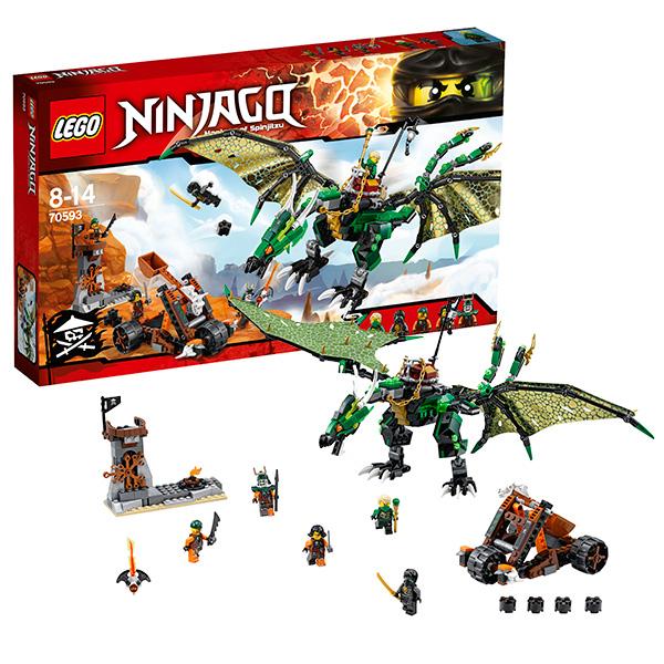 Lego Ninjago 70593 Лего Ниндзяго Зелёный Дракон lego ninjago конструктор зеленый дракон 70593