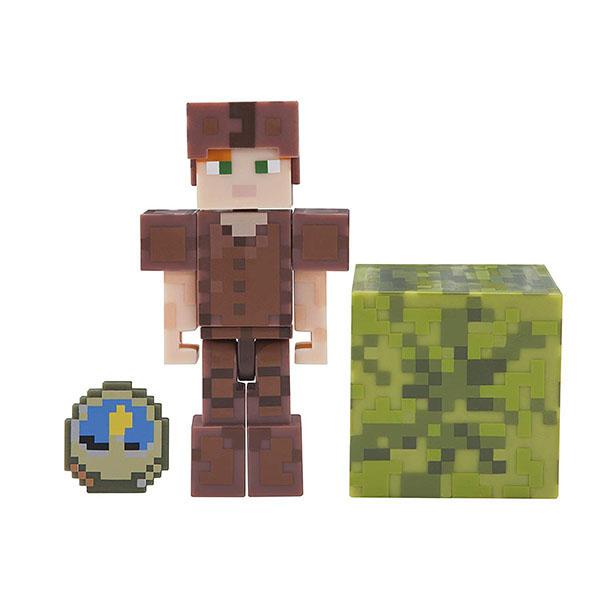 Minecraft 19975 Майнкрафт фигурка Alex in Leather Armor bandai фигурка minecraft mine charact box alex 4 см