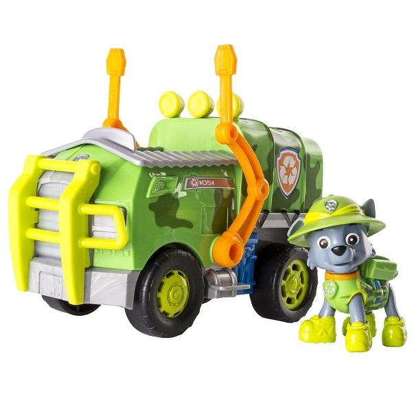 Paw Patrol 16702-Roc Щенячий патруль Машина спасателя со щенком Рокки